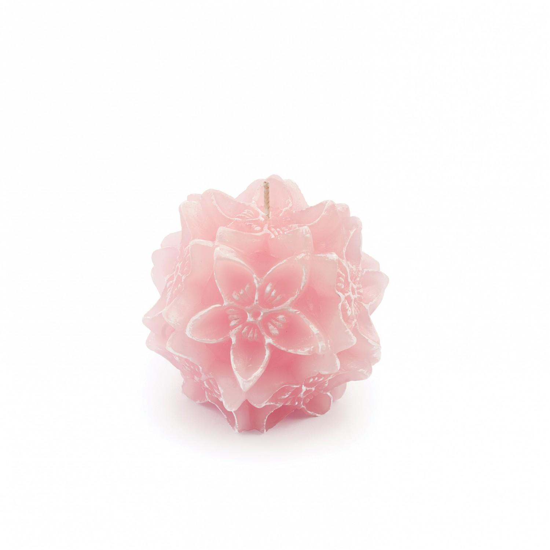 Vela flor origami cor lilás